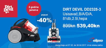 akcija dirt devil dd2325-3