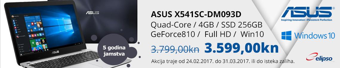 asus x541sc-dm093d akcija 2017