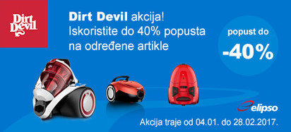 dirt devil do 40 posto akcija