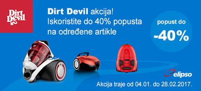dirt devil do 40 posto akcija