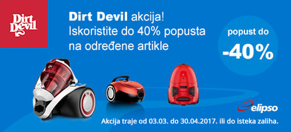 dirt devil do -40 posto akcija