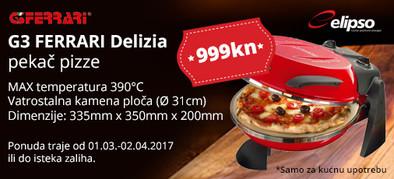g3 ferrari delizia pekač pizza