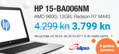 HP Akcija 15-BA006 Ozujak-Travanj 2017
