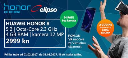 Huawei Honor 8 i VR prilika veljača