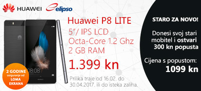 Huawei P8Lite prilika veljača