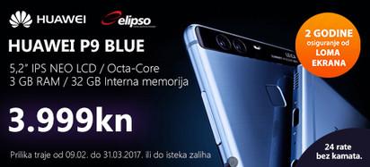 Huawei P9 Blue prilika veljača