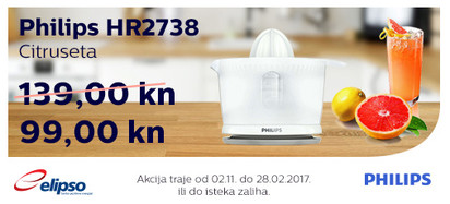 Philips HR2738 citruseta akcija Studeni