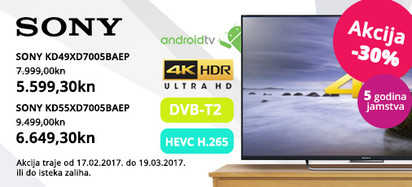 Sony xd7005 -30 posto, veljača 2017